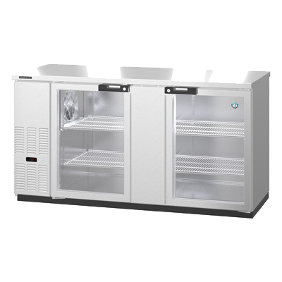 "superior-equipment-supply - Hoshizaki - Hoshizaki Reach-In Two Section Back Bar Cooler 69.5""W (3) 1/2 Kegs"
