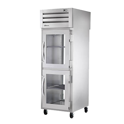 superior-equipment-supply - True Food Service Equipment - True One Section Two Glass Half Doors Front & One Glass Rear Door Pass-Thru Refrigerator