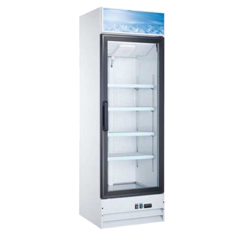 "Omcan 26"" Wide One Section Refrigerator Merchandiser 14 cu. ft."