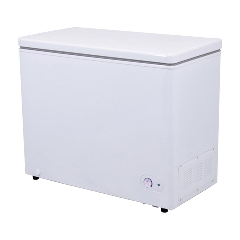 "Omcan 40"" Wide Solid Chest Freezer 7.2 cu. ft. With One Basket"