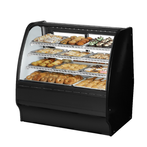 "superior-equipment-supply - True Food Service Equipment - True Black Powder Coated Exterior Non-Refrigerated Glass Merchandiser 48""W"