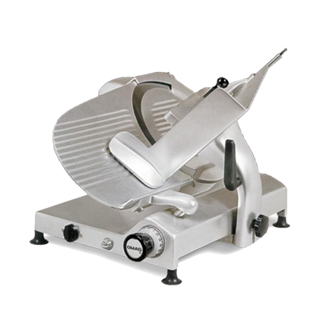 Omcan Manual Meat Slicer 14' Diameter Carbon Steel Blade