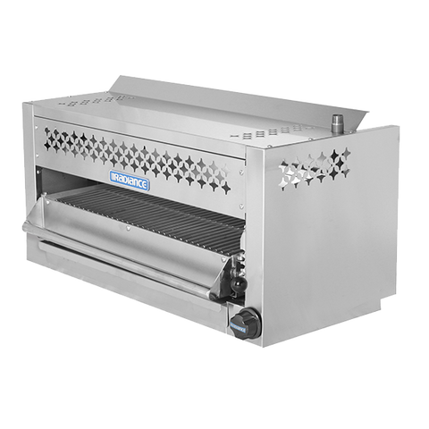 "superior-equipment-supply - Turbo Air - Turbo Air 24"" Wide Stainless Steel Countertop/Wall Mount Gas Salamander"