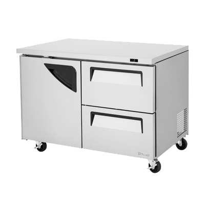 "superior-equipment-supply - Turbo Air - Turbo Air 48.25"" Wide Stainless Steel Two-Section Undercounter Refrigerator"