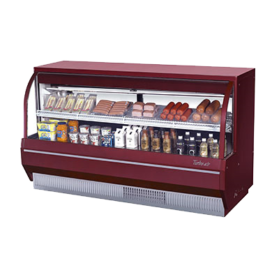 "Turbo Air 72.5"" Wide Stainless Steel Refrigerated Deli Display Case"