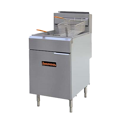 superior-equipment-supply - MVP Group - Sierra Stainless Steel Natural Gas Full Pot Fryer 75-80 lbs. Capacity