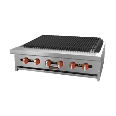 "superior-equipment-supply - MVP Group - Sierra Stainless Steel Countertop Gas Charbroiler 48""W"