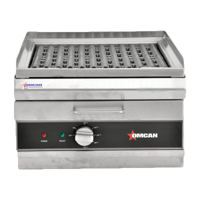"Omcan Electric Countertop Charbroiler/Griddle 16.5"" Wide"