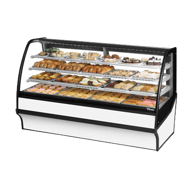 "superior-equipment-supply - True Food Service Equipment - True White Powder Coated Non-Refrigerated Three Shelf Merchandiser 77""W"
