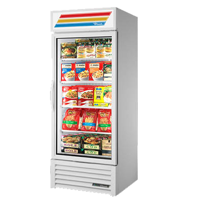 Refurbished True One Glass Door Freezer Merchandiser