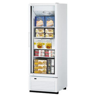 "superior-equipment-supply - Turbo Air - Turbo Air One-Section 27"" Wide Stainless Steel Super Deluxe Freezer Merchandiser"
