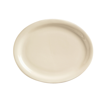 superior-equipment-supply - World Tableware Inc - World Tableware Kingsmen Narrow Rim Platter Cream White Stoneware - 24/Case