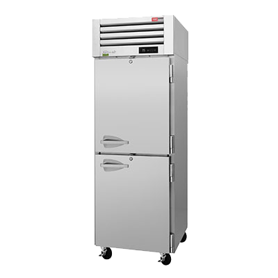 "superior-equipment-supply - Turbo Air - Turbo Air 28.75"" Wide Stainless Steel Four Front & Rear Solid Half Door Pass-Thru Refrigerator"