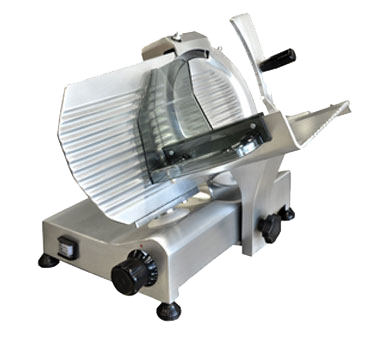"Omcan Manual Meat Slicer 10"" Diameter Carbon Blade"