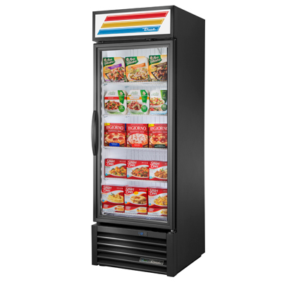 "superior-equipment-supply - True Food Service Equipment - True Black Powder Coated Steel Exterior Freezer Merchandiser 27""W"