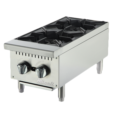 "superior-equipment-supply - Migali - Migali 12""W Stainless Steel Two Burner Natural Gas Countertop Hotplate"