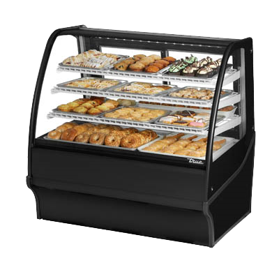 "superior-equipment-supply - True Food Service Equipment - True Black Powder Coated Non-Refrigerated Display Three Shelf 48"" Wide Merchandiser"
