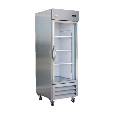"superior-equipment-supply - MVP Group - IKON Stainless Steel Reach-In One Section Glass Door Freezer 26.9""W"