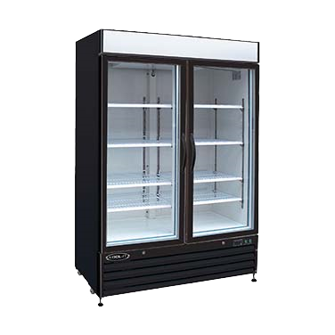 "superior-equipment-supply - MVP Group - Kool-It Two Section Two Glass Door Freezer Merchandiser 53.9""W"