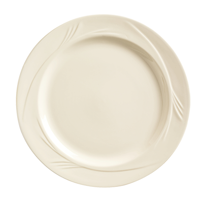 "superior-equipment-supply - World Tableware Inc - World Tableware Endurance Medium Rim Plate Cream Porcelain Cream White 9-3/4"" Diameter - 24/Case"