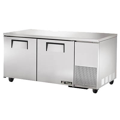 "superior-equipment-supply - True Food Service Equipment - True Stainless Steel 67"" Wide Deep Undercounter Freezer"