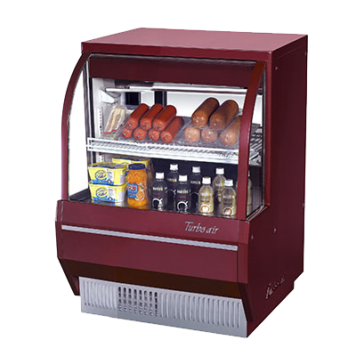 "superior-equipment-supply - Turbo Air - Turbo Air 36.5"" Wide Stainless Steel Low Profile Refrigerated Deli Case"