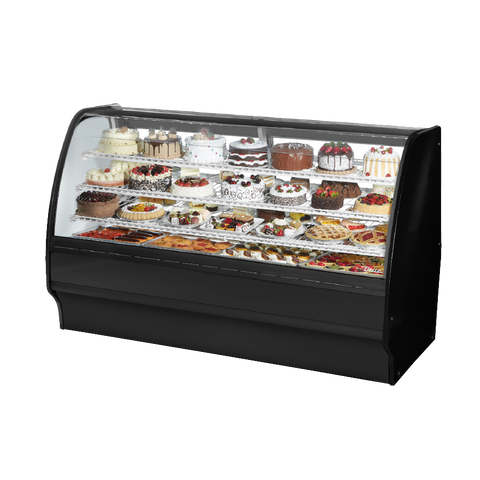 "superior-equipment-supply - True Food Service Equipment - True White Powder Coated 77""W Refrigerated Glass Merchandiser"