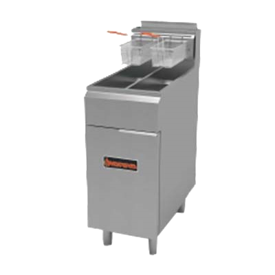superior-equipment-supply - MVP Group - Sierra Split Pot Fryer 25 lbs. Capacity Per Tank