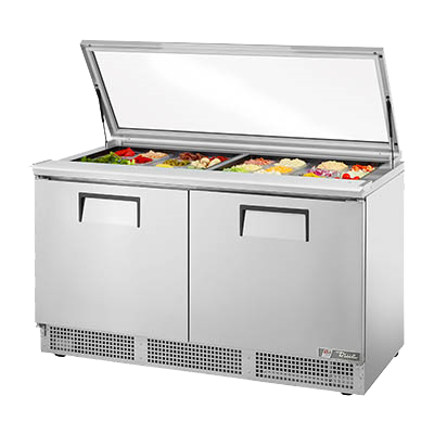 "superior-equipment-supply - True Food Service Equipment - True Stainless Steel Two Section Sandwich/Salad Unit 64""W"