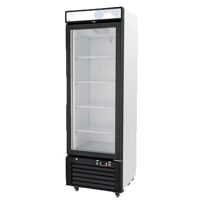 "superior-equipment-supply - Migali - Migali 24.25""W White Powder Coated Steel One-Section Reach-In Refrigerator Merchand"