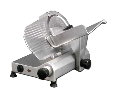 "Omcan Manual Meat Slicer 11"" Diameter Carbon Steel Blade"