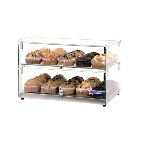 "Omcan 21.8"" Wide Countertop Two Shelf Display Case"