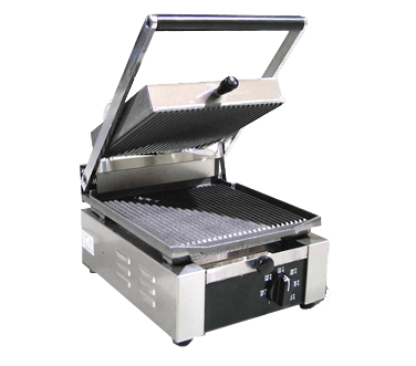 Omcan Stainless Steel Single Sandwich Grill