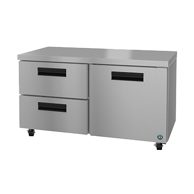 "superior-equipment-supply - Hoshizaki - Hoshizaki Stainless Steel Two Section Two Drawer 60"" Undercounter Refrigerator"