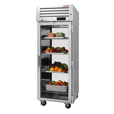 "superior-equipment-supply - Turbo Air - Turbo Air 28.75"" Wide Stainless Steel Front & Rear Glass Door Pass-Thru Refrigerator"