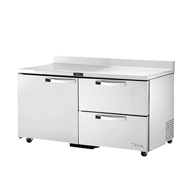 superior-equipment-supply - True Food Service Equipment - True Stainless Steel Two Section One Door Two Drawer ADA Compliant Work Top Refrigerator