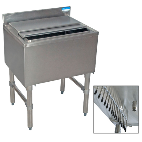 "superior-equipment-supply - BK Resources - BK Resources Stainless Steel Underbar Ice Bin 24"" x 18"""