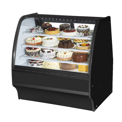 "superior-equipment-supply - True Food Service Equipment - True Black Powder Coated 48""W Refrigerated Glass Merchandiser With PVC Coated Wire Shelving"