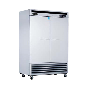 "superior-equipment-supply - MVP Group - Kool-It Stainless Steel Reach-In Two Section Two Solid Door Freezer 53.9""W"