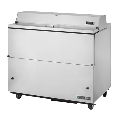 "superior-equipment-supply - True Food Service Equipment - True Stainless Steel 49""W Milk Cooler 12 Crate Capacity"