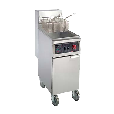 superior-equipment-supply - Grindmaster Cecilware - Grindmaster Cecilware Electric Fryer, Floor Model, Full Pot, 55 Lbs Fat Capacity