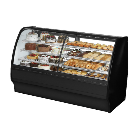 "superior-equipment-supply - True Food Service Equipment - True Black Powder Coated 77""W Dual Zone Merchandiser With PVC Coated Wire Shelving"