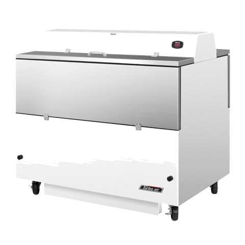 "superior-equipment-supply - Turbo Air - Turbo Air 49"" Wide White Vinyl/Stainless Steel Dual Sided Milk Cooler"