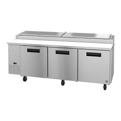 "superior-equipment-supply - Hoshizaki - Hoshizaki Stainless Steel Three Section Three Door 93"" Pizza Prep Table"