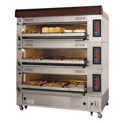 "superior-equipment-supply - Turbo Air - Turbo Air 69.25"" Wide 3-Tier Electric Deck Oven (Pan Size 18""x26"")"