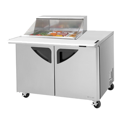 "superior-equipment-supply - Turbo Air - Turbo Air 48"" Wide Stainless Two-Section Sandwich/Salad Mega Top Unit"