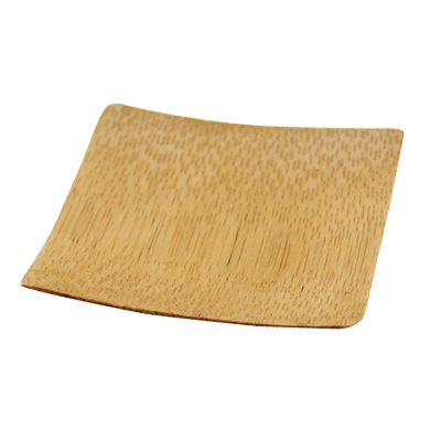 Tablecraft Cash & Carry Square Bamboo Disposable Dish 1/2 oz. - 48 Pack
