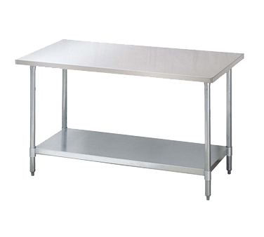 "superior-equipment-supply - Turbo Air - Turbo Air Stainless Steel Work Table 84""W x 30""D"