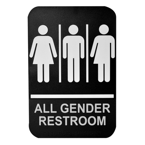 "Tablecraft Cash & Carry Sign ""All Gender Restroom"""