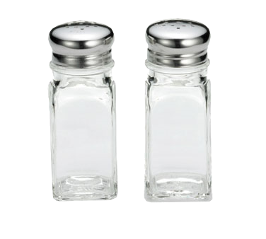 superior-equipment-supply - Tablecraft Products Co - Tablecraft Square Glass Salt/Pepper 2 oz. Shaker